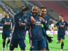 Alexandre Lacazette leads Arsenal team mate