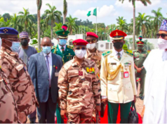 Chad's military head Mahamat Déby, with President Buhari