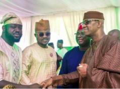 Gov. Abiodun shakes hand with Rufai