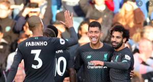 Jubilant Liverpool players