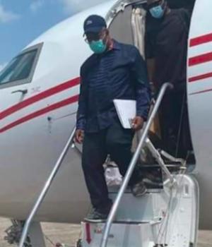 Godswill Akpabio arriving Delta