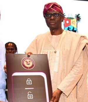 Jamiu Olayiwola; Gov. Babajide Sanwo-Olu and Head of Service, Hakeem Muri-Okunola
