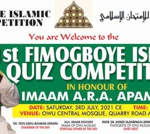 Fimogboye Islamic Quiz Competition
