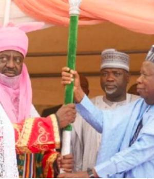 Nasiru Bayero, the emir of Bichi. and Gov. Ganduje