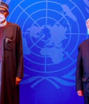 President Buhari and Antonio Guettere