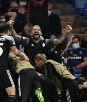 Sheriff Tiraspol's second goal sparked wild celebrations